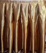 Фуршетна спідниця щільний атлас 2 метри, Бронза.