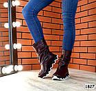 Демисезонные женские сапоги бордового цвета, натуральная кожа 37 ПОСЛЕДНИЙ РАЗМЕР, фото 2