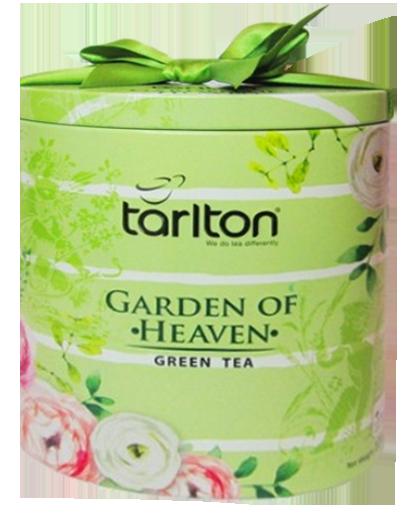 Чай с саусепом зеленый листовой Тарлтон Garden of Heaven 100 г в жестяной банке