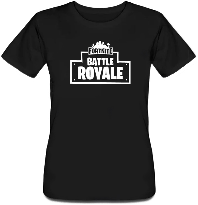 """Женская футболка Fortnite Battle Royale """"Logo"""" (чёрная)"""