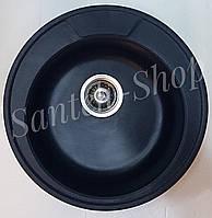 Кухонная мойка из искусственного камня Haiba HB 8301 Black (490*180)
