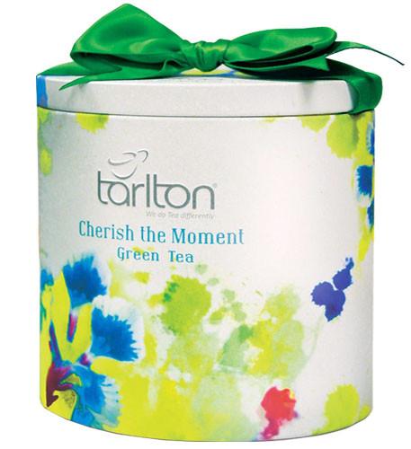 Чай зеленый листовой Тарлтон Cherish the Moment 100 г в жестяной банке