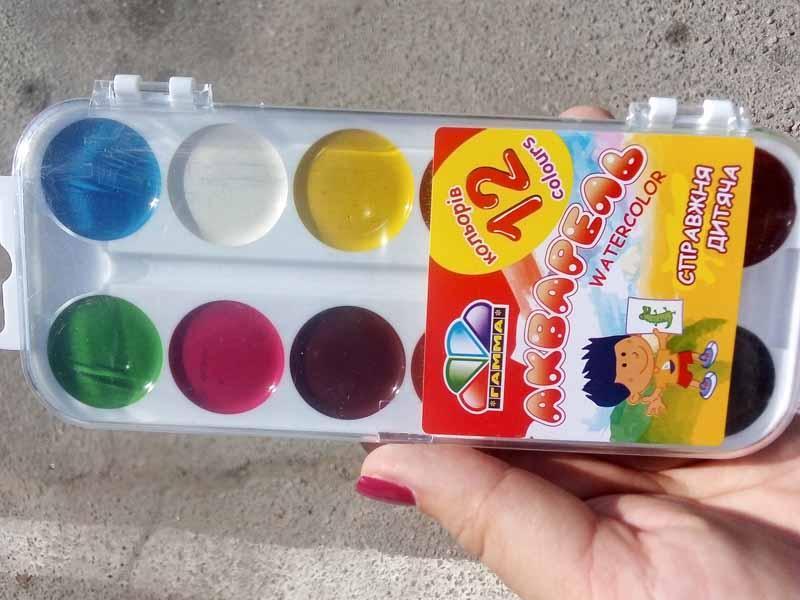 Краски акварель Гамма 12цв пластик 312046