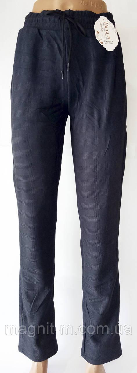 """Стрейчевые брюки на кулиске """"Натали Бамбук"""". Серо-синий цвет. Р-р 48-50-52. №К65-1."""