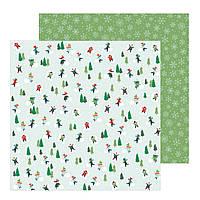 Папір двосторонній - Snow Day - Merry Little Christmas - Pebbles - 30x30
