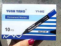 Маркер перманентный 802 черный (10шт)