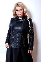 Кожаная куртка косуха больших размеров, фото 1