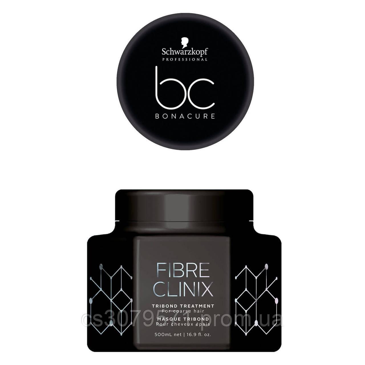 Маска для жестких волос Schwarzkopf Professional Bonacure Fibre Clinix Tribond Treatment - 500 мл