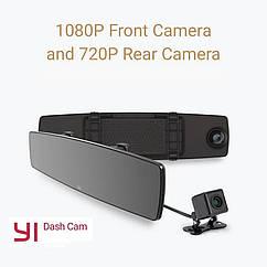 Xiaomi YI зеркало видеорегистратор. Сенсорный. Камера заднего вида. HD камера G датчик. Ночное видение.