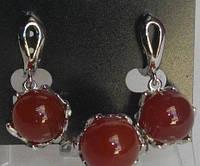 Набор Сердолик (кольцо + серьги)