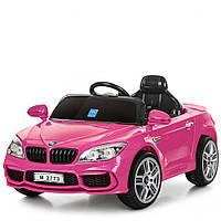 Детский электромобиль БМВ 7 серии M 2773EBLRS-8, кожаное сиденье и мягкие колеса,АВТОПОКРАСКА