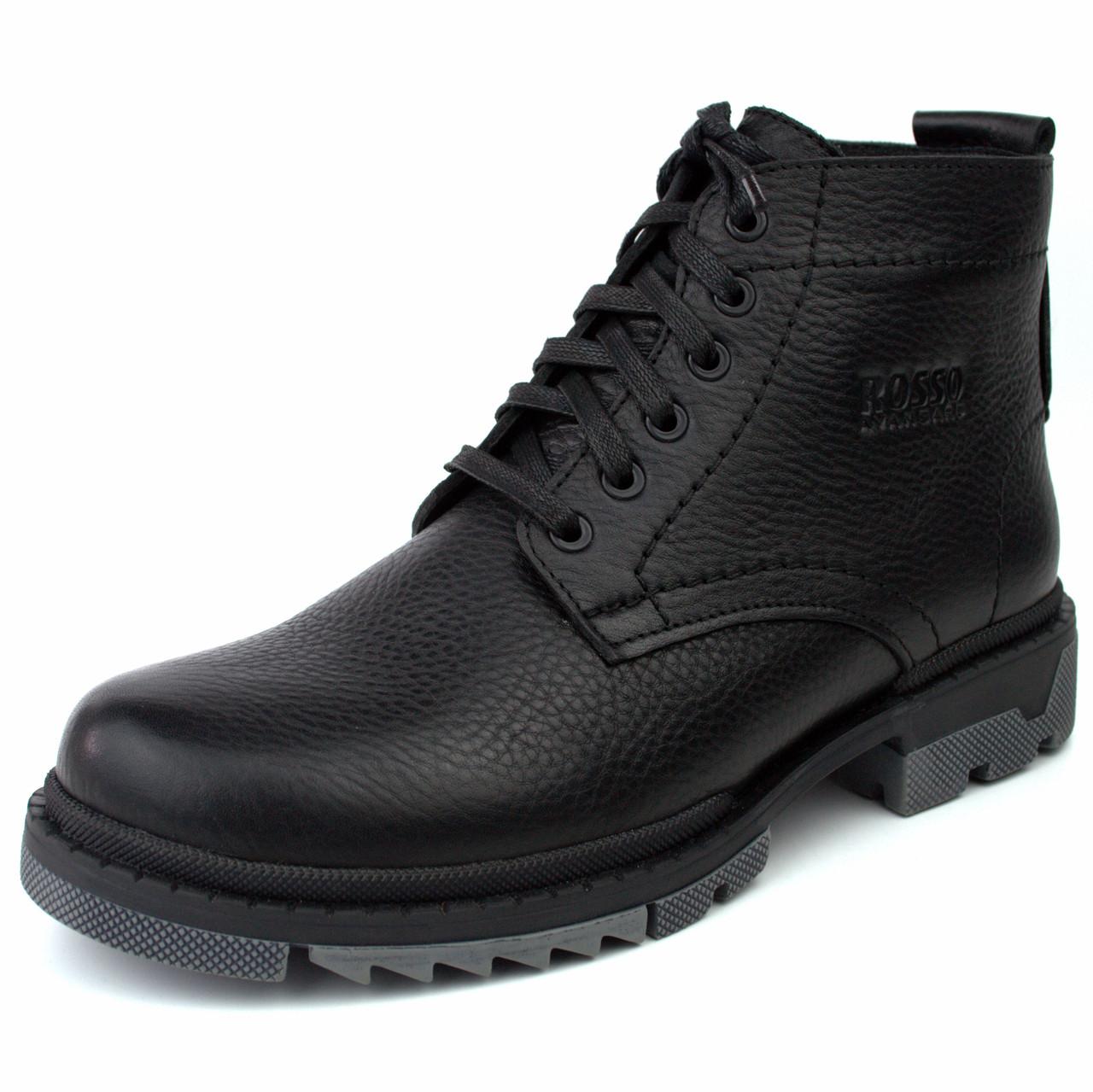 Зимние ботинки ручной работы индивидуально пошита обувь для мужчин из натуральной кожи Ultimate by Rosso
