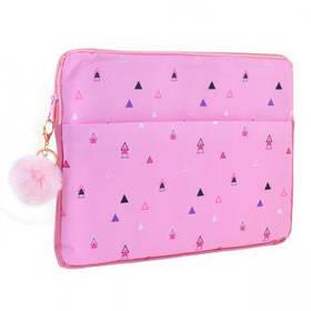 "Чехол для ноутбука YES ""Triango"", розовый"