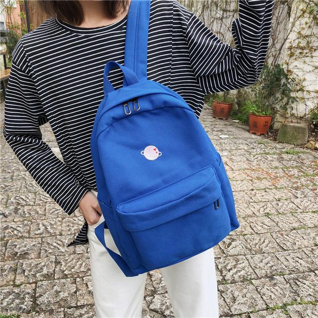 Молодіжний рюкзак з планетою синій