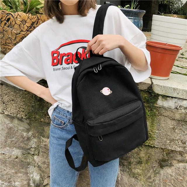 Молодіжний рюкзак з планетою чорний