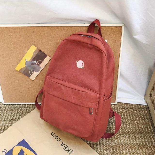 Молодіжний рюкзак з планетою червоний
