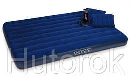Матрас Intex 152*203*22 см с насосом и подушками