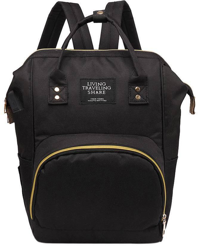 Рюкзак органайзер для мам Living Traveling Share Black
