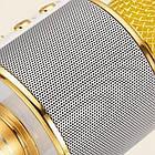 Bluetooth микрофон-караоке WS-858 с динамиком (колонкой), слотом USB и FM тюнером (Золотой), фото 2