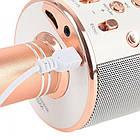Bluetooth микрофон-караоке WS-858 с динамиком (колонкой), слотом USB и FM тюнером (Розовый), фото 3