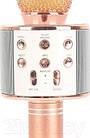 Bluetooth микрофон-караоке WS-858 с динамиком (колонкой), слотом USB и FM тюнером (Розовый), фото 5