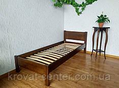 """Детская односпальная кровать из массива дерева от производителя """"Эконом"""" (80х200) лесной орех"""