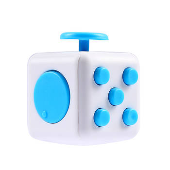 Игрушка Антистресс Plymex Fidget Cube White-Blue (004307_1)