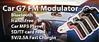 FM модулятор автомобильный Car G7 с зарядкой для телефона от прикуривателя   ФМ модулятор трансмиттер , фото 9