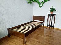 """Односпальная деревянная кровать от производителя """"Эконом"""" (80х190/200) лесной орех"""