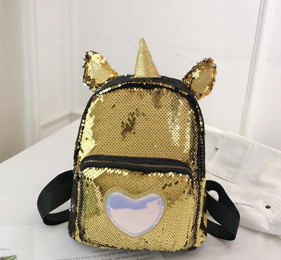 Рюкзак золотой Единорог