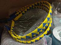 Металлический обруч для волос 0,5см орнамент Украина