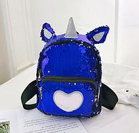 Рюкзак синий Единорог, фото 1