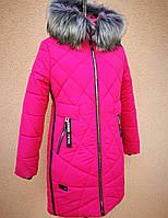 Зимнее теплое пальто для девочки DK-1114, фото 1