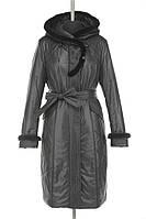Женское пальто на тонком синтепоне с отделкой из натурального меха норки.