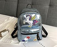 Рюкзак голубой Единорог