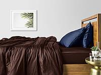 Комплект полуторного постельного белья сатин CHOCOLATE BLUE-P