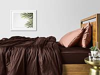 Комплект полуторного постельного белья сатин CHOCOLATE BEIGE-P