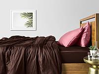 Комплект полуторного постельного белья сатин CHOCOLATE PUDRA-P