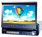 Автомагнитола 1DIN DA-766 с выезжающим экраном | Автомобильная магнитола + пульт управления, фото 2