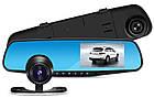 Автомобильный Видеорегистратор зеркало DVR A1 с двумя 2 камерами, фото 3