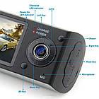 Автомобильный видеорегистратор X3000AV на 2 камеры | авторегистратор | регистратор авто, фото 6