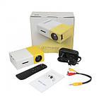 Проектор портативный мультимедийный с динамиком Led Projector YG300, фото 4
