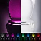 Автономная цветная Led подсветка для унитаза с датчиком движения и света TOILET Light Bowl, фото 5