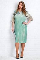 Красивое женское платья из трикотажа в люрексом батал 56-58 размер