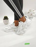 Белые женские кроссовки, ОВ 1077, фото 1