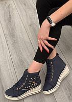 Кроссовки женские 8 пар в ящике темно-синего цвета 36-41, фото 2