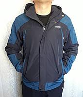 Куртка мужская, ветровка с капюшоном, весна-осень, демисезонная