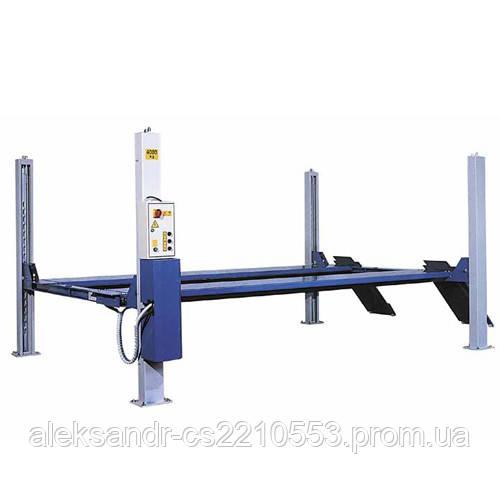ОМА 527R - Подъемник четырехстоечный электрогидравлический г/п 4000 кг с длинными платформами