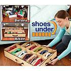 Компактный органайзер для хранения обуви Shoes under server | сумка для обуви, фото 5