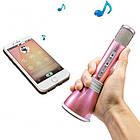 Беспроводной микрофон К-068 bluetooth для караоке / Tuxun k068 с динамиком (Розовый), фото 2